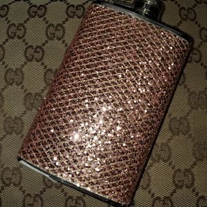Gold sequin flask